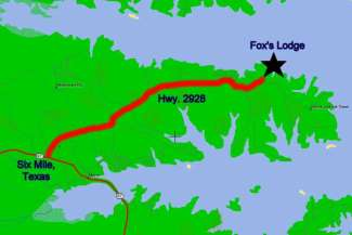 Maps Directions To Fox S Lodge On Toledo Bend Lake