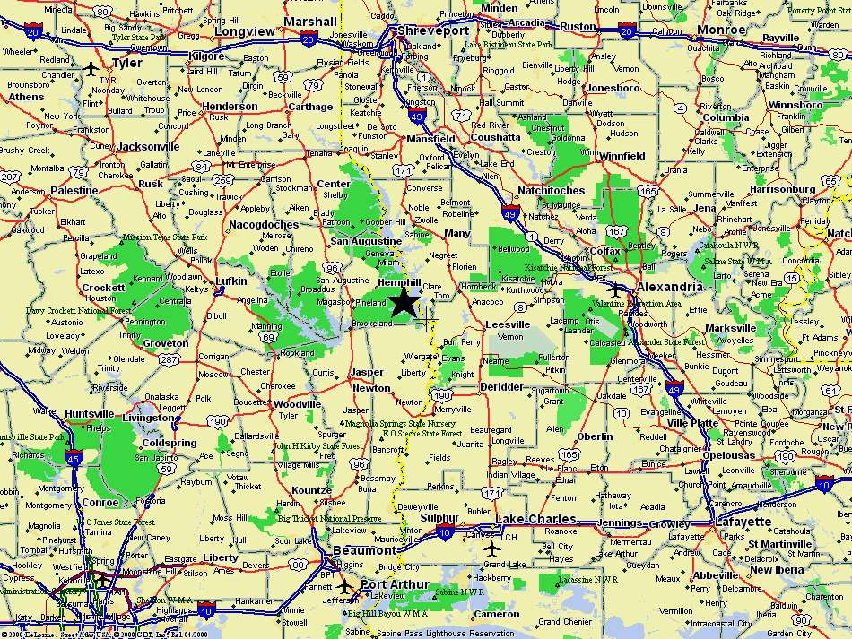 Maps directions to fox 39 s lodge on toledo bend lake for Toledo bend fishing